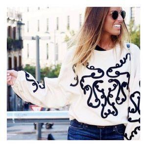 ZARA Bubble Sleeves Sweater